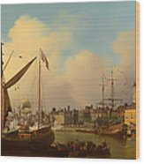 The Thames And Tower Of London On The King's Birthday Wood Print