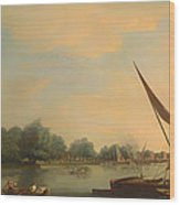 The Thames At Chelsea Wood Print