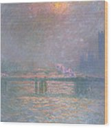 The Thames With Charing Cross Bridge Wood Print