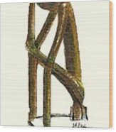 The Thinker  Number 11 Wood Print