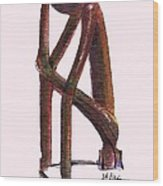 The Thinker   Number 17 Wood Print