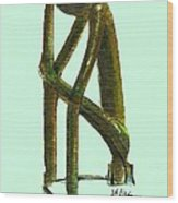 The Thinker  Number 2 Wood Print