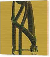 The Thinker   Number 4 Wood Print