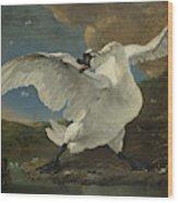The Threatened Swan, Jan Asselijn Wood Print