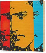 The Three Faces Of Elvis Wood Print