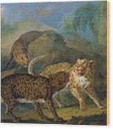 The Three Leopards Wood Print