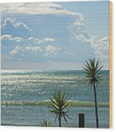The Three Palms Wood Print