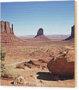 The Three Sisters At Monument Valley Wood Print