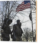 The Three Soldiers - Vietnam War Memorial Wood Print
