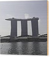 The Three Towers Of The Marina Bay Sands In Singapore Wood Print