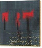 The Three Trees - J22206237a Wood Print