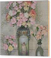 The Three Vases Wood Print