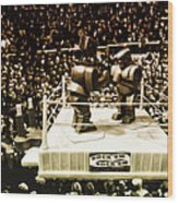 The Thrilla In Toyvilla Wood Print by Bill Cannon