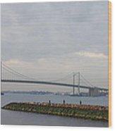 The Throgs Neck Bridge Wood Print