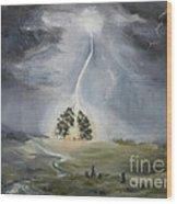 The Thunder Storm Wood Print