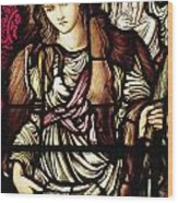 The Tibertine Sibyl In Stained Glass Wood Print