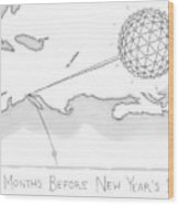 The Times Square Ball Is High Above The Northeast Wood Print