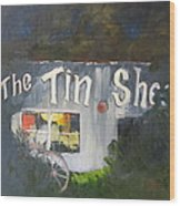 The Tin Shed Wood Print