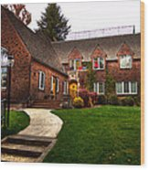 The Tke House On The Wsu Campus Wood Print by David Patterson