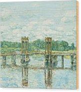 The Toll Bridge New Hampshire Wood Print