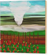 The Tomatoes And The Tornado Wood Print