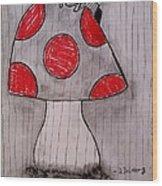 The Tomboy Princess Wood Print by Denisse Del Mar Guevara