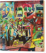 the Torah is aquired with attentive listening 11 Wood Print