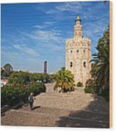 The Torre Del Oro, Gold Tower, Military Wood Print