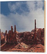 The Totems Monument Valley Wood Print