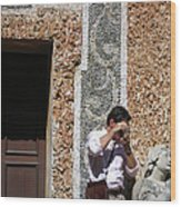 The Tourist And His Lady Wood Print