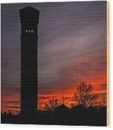 The Tower @ Dawn - Square Silhouette Wood Print