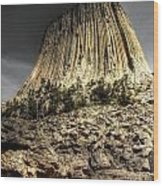 The Tower Of Boulders Wood Print