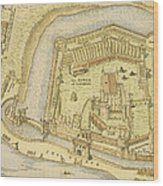 The Tower Of London, From A Survey Made Wood Print