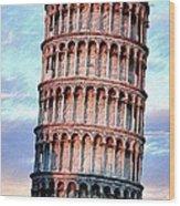 The Tower Of Pisa Wood Print