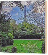 The Tower Over A Garden Wood Print
