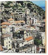 The Town Of Minori Wood Print by H Hoffman