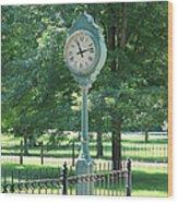 The Town's Clock Wood Print