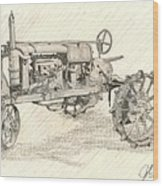The Tractor Wood Print