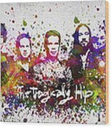 The Tragically Hip In Color Wood Print