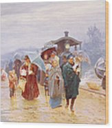 The Train Has Arrived, 1894 Wood Print