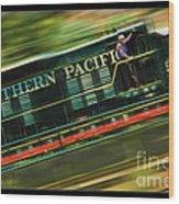 The Train Ride Wood Print