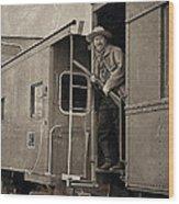 The Train Robber Wood Print