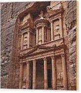 The Treasury In Petra Jordan Wood Print