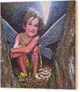 The Tree Fairy Wood Print