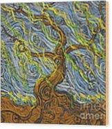 The Tree Have Eyes Wood Print