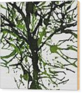 The Tree Is Green Wood Print