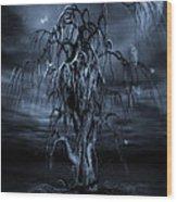 The Tree Of Sawols Cyanotype Wood Print