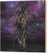 The Tree Of Sawols Wood Print by John Edwards