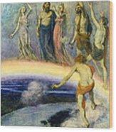 The Trek Of The Gods To Valhalla Wood Print