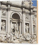 The Trevi Fountain - Rome - Italy Wood Print